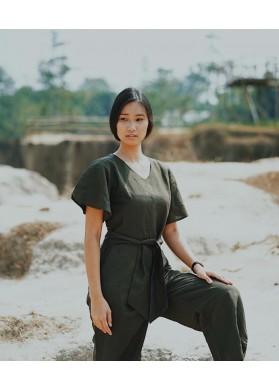 Baline GILI JUMPSUIT - GREEN