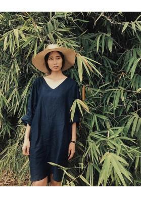 Baline MEDEWI DRESS - BLUE