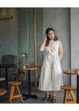 Baline UBUD DRESS - OFF WHITE