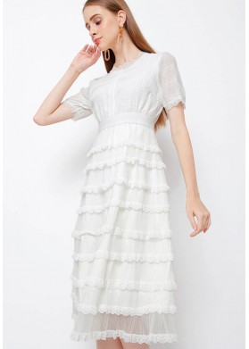 CHOCOCHIPS Nancy Dress White