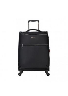 Echolac CT567 Nylon Spinner Case Luggage Trolley Bag BLACK