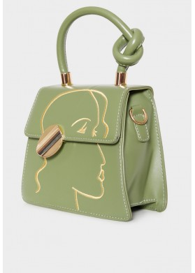 Goddess Erota Green Bag