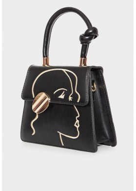 Goddess Erota Black Bag
