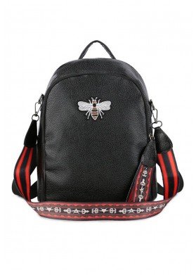 Goddess Dahlia Black Bag