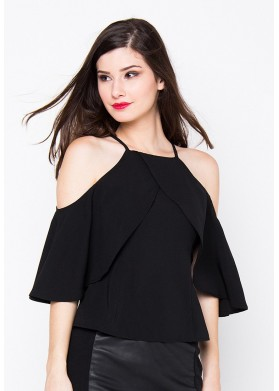 Qlassuale Mysha Off Shoulder Top - Black